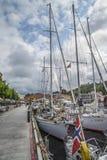 在展示的小船在港口halden,图象2 免版税库存照片