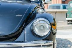 在展示的老汽车灯 库存照片