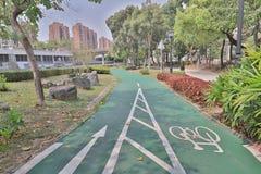 在屯门的一条大热忱的循环的道路 图库摄影