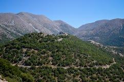 在山上面的土耳其城堡  免版税库存图片