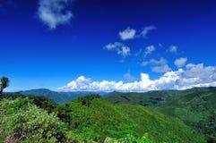 在山上面  免版税图库摄影