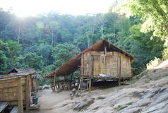在山中的一个地方房子在惊奇为游人的泰国 库存图片