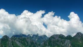 在山区标准时间流逝的云彩 影视素材