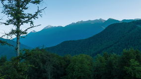 在山区标准时间流逝的日出 影视素材