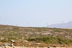 在山口的造风机 库存图片