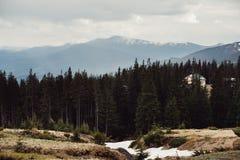 在山喀尔巴汗乌克兰的风景 图库摄影