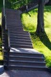 在山坡的楼梯 库存图片