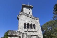 在山大阿安的监视塔在索契 免版税库存照片