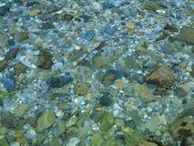 在山小河的波纹 库存照片