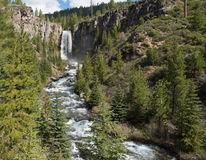在山小河的瀑布 图库摄影