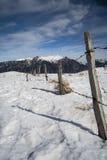 在山意大利的雪 库存图片