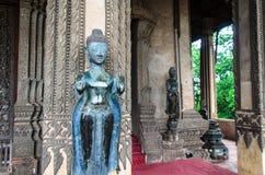 在山楂Pha Kaeo,万象,老挝的Buddhas 免版税库存图片
