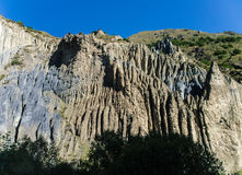 在山河的岩石 库存图片