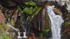 在山河的细节瀑布 时间间隔 影视素材