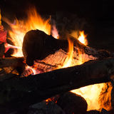 在山的一个营火 图库摄影