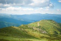 在山的一个晴天 免版税库存图片