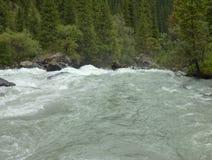 在山的一条被充斥的小河 免版税图库摄影