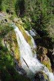 在山的三瀑布 库存图片