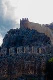 在山的上面的堡垒 图库摄影