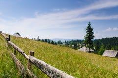 在山的上面的风景 免版税库存图片