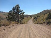 在山的乡下公路,加利福尼亚 库存照片