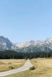 在山的乡下公路 免版税库存照片