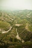 在山的再造林的区域,山西,中国 库存图片