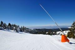 在山的冬天假期 免版税图库摄影