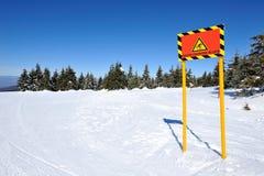 在山的冬天假期 图库摄影