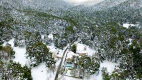 在山的冬天图象 免版税图库摄影
