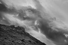 在山的动态结构 免版税图库摄影