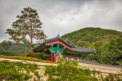 在山的和尚寺庙在韩国 免版税图库摄影