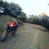 在山的土自行车 图库摄影
