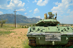 在山的坦克 免版税图库摄影