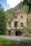 在山的城堡 库存图片