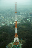 在山的塔修造在汉城 库存照片