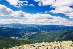 在山的夏天早晨 免版税图库摄影