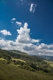 在山的夏天风景 免版税库存图片