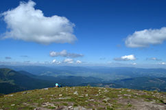 在山的夏天 免版税库存图片