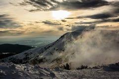 在山的夜间 图库摄影
