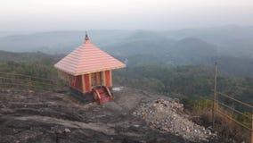 在山的寺庙 免版税库存照片