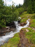 在山的小河,南蒂罗尔,意大利欧洲 免版税库存照片
