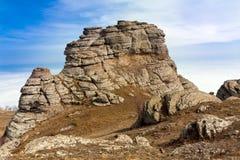 在山的岩石 图库摄影