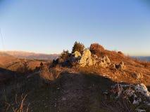 在山的岩石 免版税库存图片