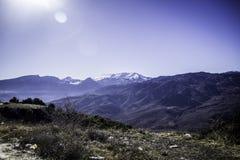 在山的工作 图库摄影