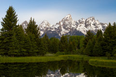 在山的平安的早晨 库存图片