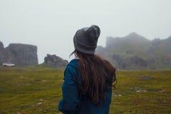 在山的旅行 库存照片