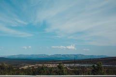 在山的旅行 图库摄影