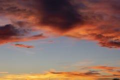 在山的日落在丹佛 免版税库存图片