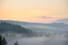 在山的早晨 免版税库存照片